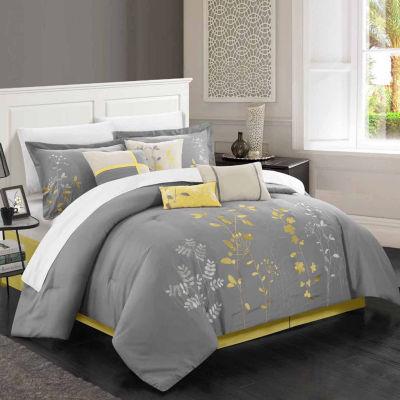 Chic Home Bliss Garden 8 Piece Comforter Set