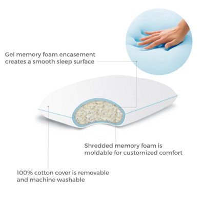 Linenspa Shredded Gel Memory Foam Pillow