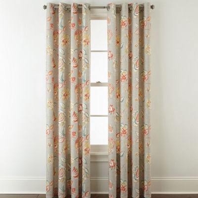 JCPenney Home Felicity Grommet-Top Curtain Panel