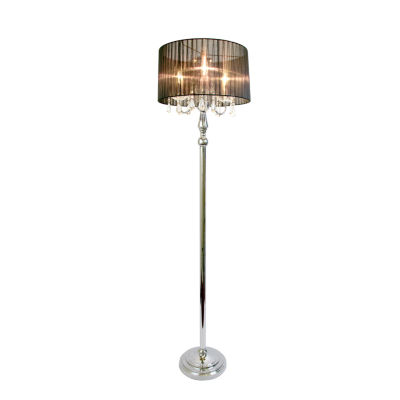 Elegant Designs Metal Floor Lamp