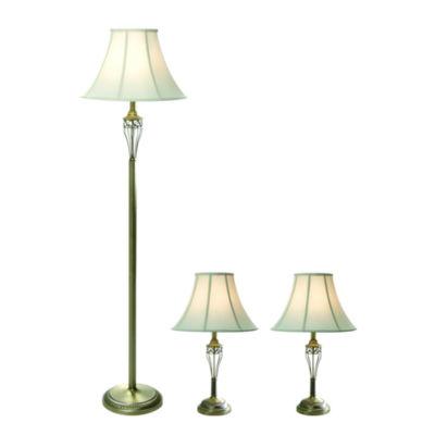 Elegant Designs 3-pc. Lamp Set