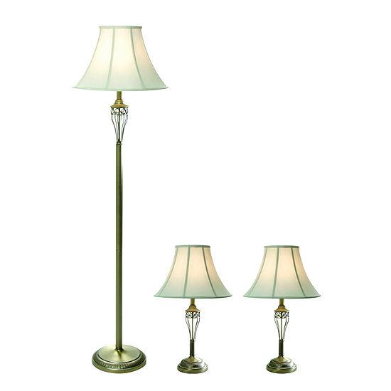 Elegant Designs 3 Pc Lamp Set
