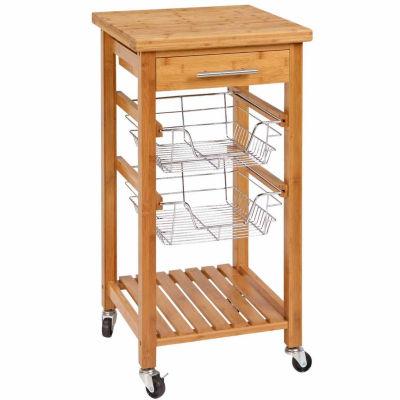 Bamboo Utility Cart