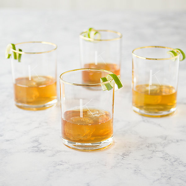 Cathy's Concepts 4-pc. Engraveable Double Old Fashioned