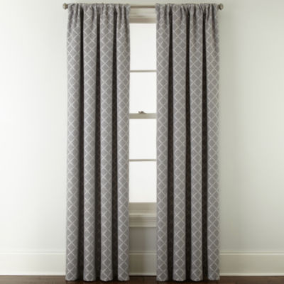 Liz Claiborne Quinn Lattice Light-Filtering Rod-Pocket Single Curtain Panel