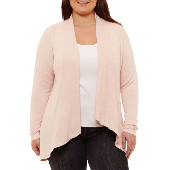 Boutique + Long Sleeve Cardigan - Plus