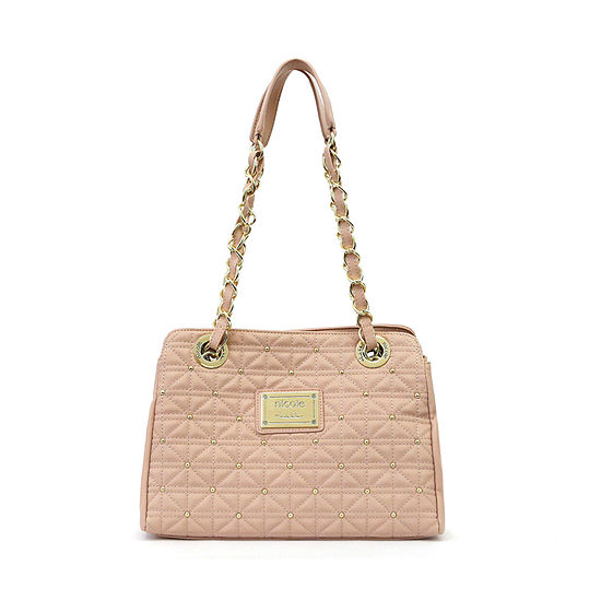 Nicole By Nicole Miller Suzie Large Quilted Tote Bag