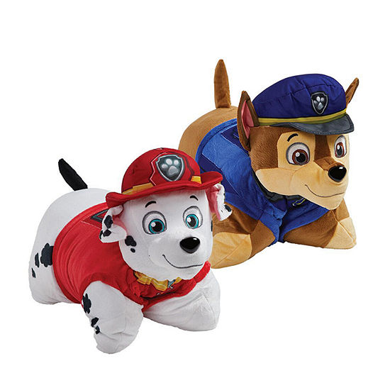 Pillow Pets Nickelodeon Paw Patrol Combo Pack- Chase And Marshall Stuffed Animal Plush Toys