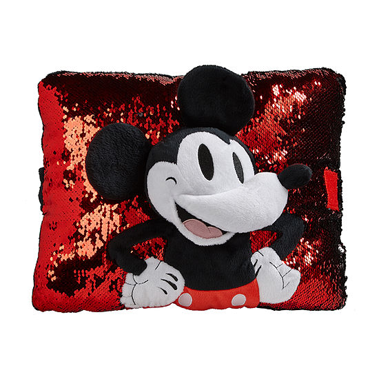 Pillow Pets Disney Red Sequin Mickey Mousel Plush Toy