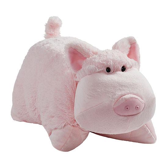 "Pillow Pets 18"" Signature Wiggly Pig Stuffed Animal Plush Toy Pillow Pet"