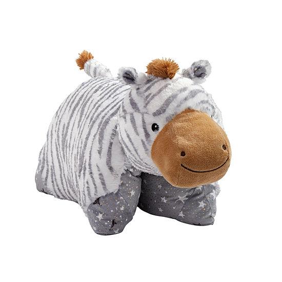Pillow Pets Naturally Comfy Zebra Stuffed Animal Plush Toy Pillow Pet