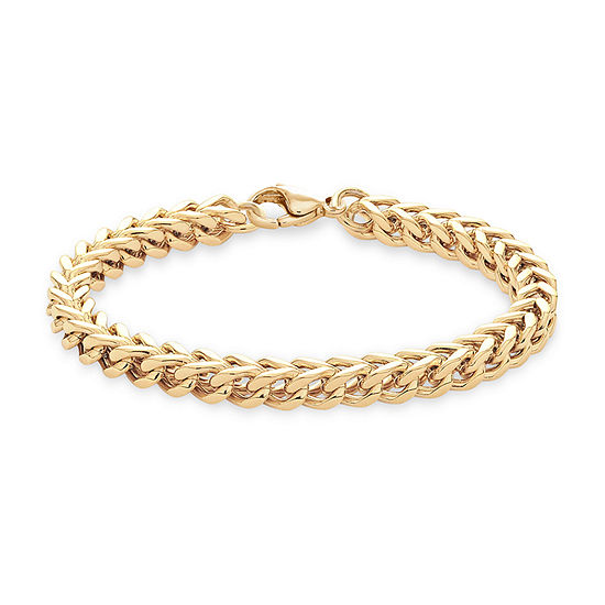 Stainless Steel 8 Inch Solid Curb Chain Bracelet