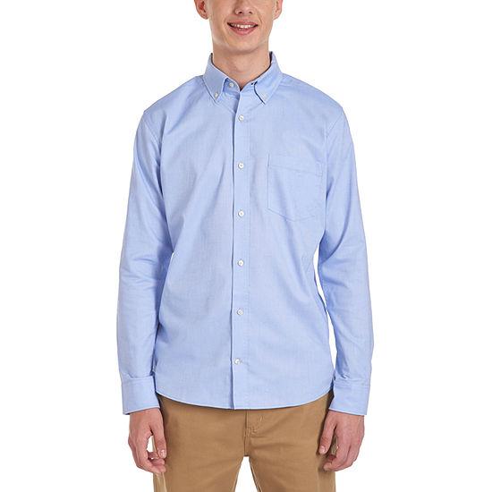 Izod Young Mens Oxford Stretch Dress Shirt