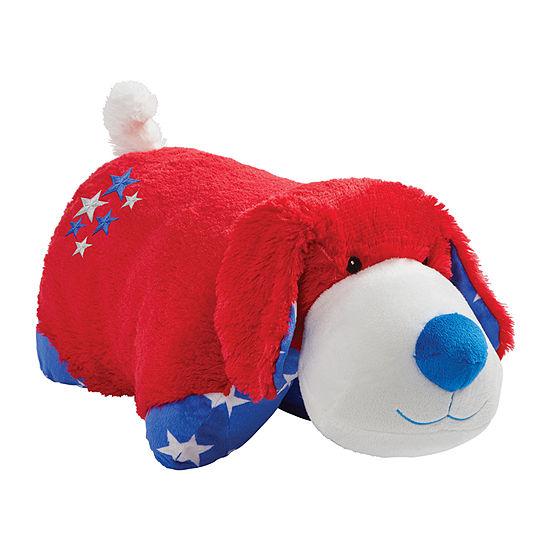 "Pillow Pets Americana Dog 18"" Plush Stuffed Animal Toy Pillow Pet"