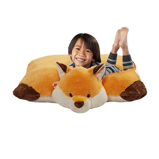 Pillow Pets Signature Jumboz Wild Fox Oversized Stuffed Animal Plush Toy Pillow Pet