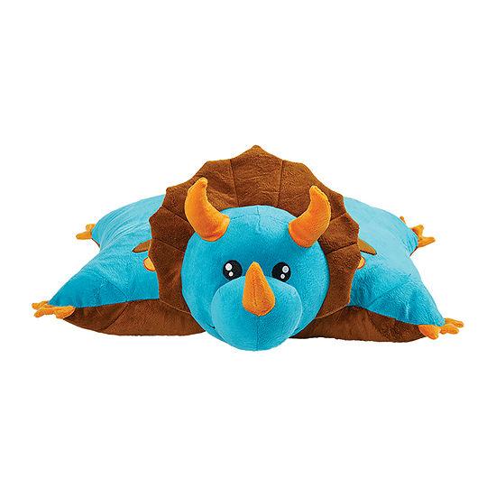 Pillow Pets Signature Jumboz Blue Dinosaur Oversized Stuffed Animal Plush Toy Pillow Pet