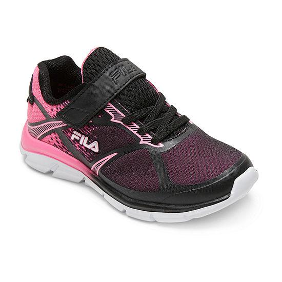 Fila Primeforce 3 Strap Girls Hook And Loop Running Shoes