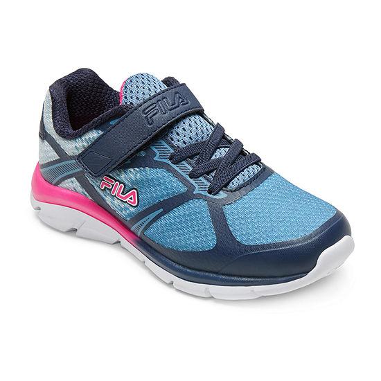 Fila Primeforce Strap Little Kids Girls Hook and Loop Running Shoes
