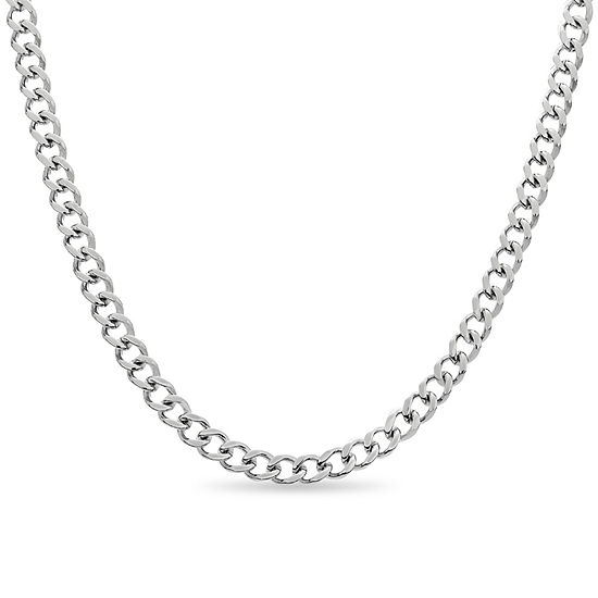 Mens 20 Inch Stainless Steel Link Necklace
