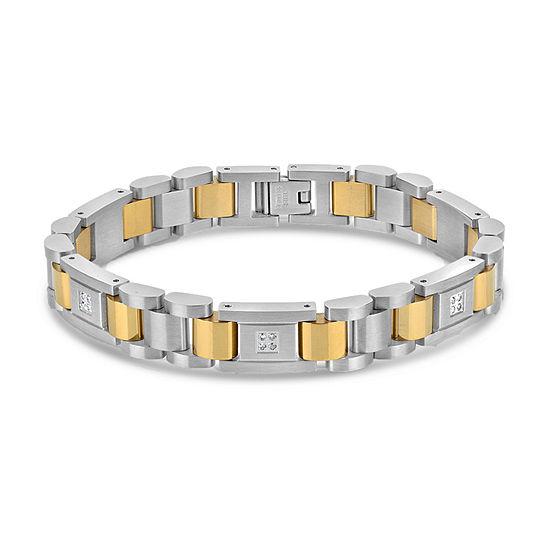 Surgical Steel 8 3/4 Inch Solid Link Bracelet