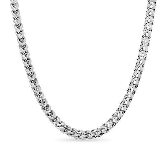 Stainless Steel 20 Inch Solid Curb Chain Necklace