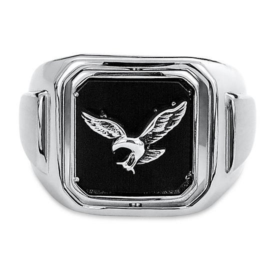 Mens 1 6 Ct Tw Black Cubic Zirconia Signet Ring