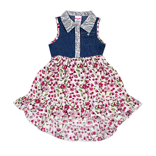 Nanette Baby Girls Sleeveless Sundress - Toddler