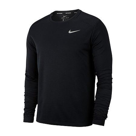 Nike Mens Crew Neck Long Sleeve T-Shirt, Xx-large , Black ...