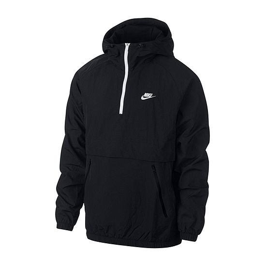 Nike Mens Hooded Neck Long Sleeve Quarter-Zip Pullover