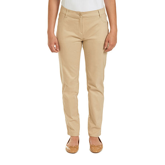 IZOD Womens Low Rise Slim Pant-Juniors