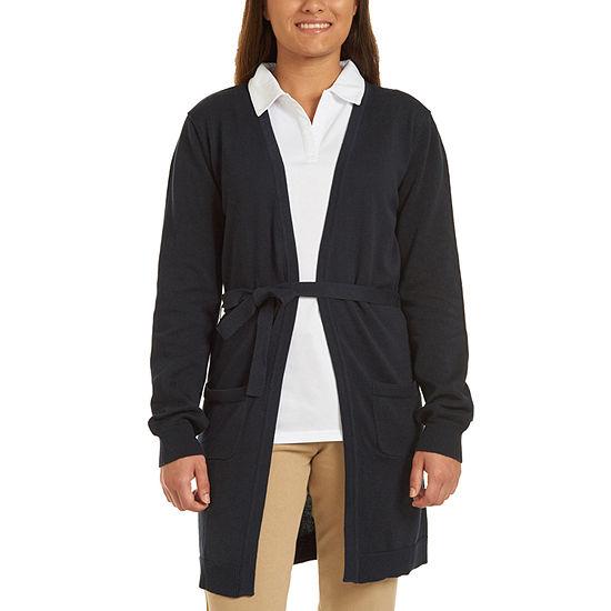 IZOD Womens Long Sleeve Cardigan-Juniors