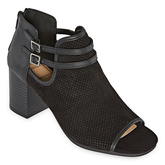 New York Transit Womens Cherise Booties Block Heel