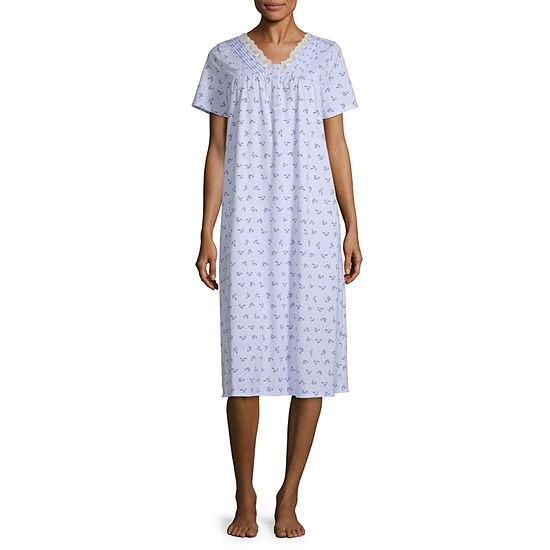 Adonna Womens V Neck Nightgown