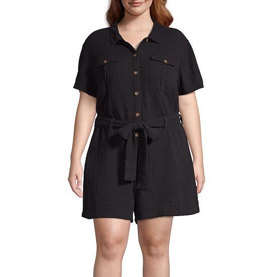 Arizona Short Sleeve Romper-Juniors Plus