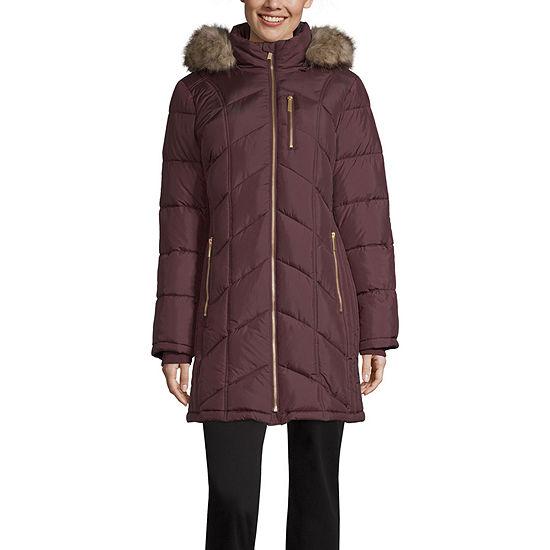 Liz Claiborne Hooded Heavyweight Puffer Jacket