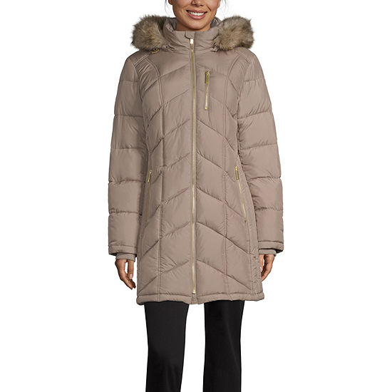 Liz Claiborne Hooded Heavyweight Puffer Jacket