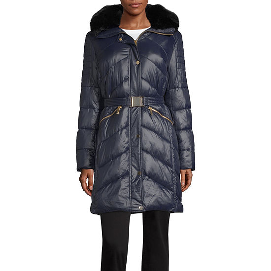 Liz Claiborne Belted Heavyweight Puffer Jacket