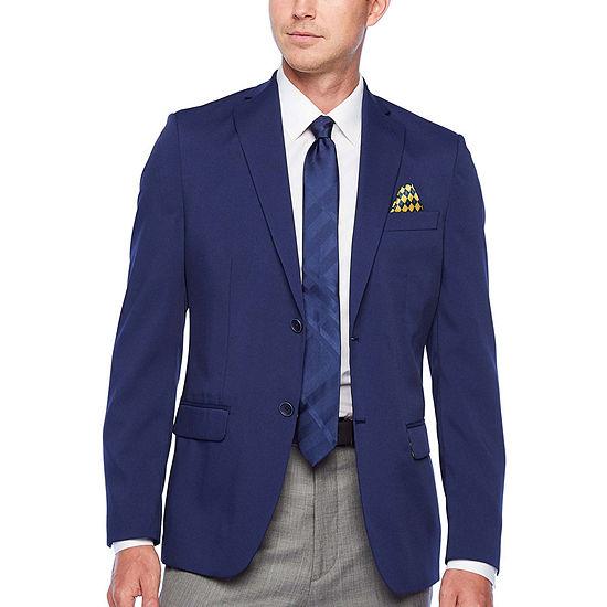 IZOD Blue Mens Classic Fit Sport Coat