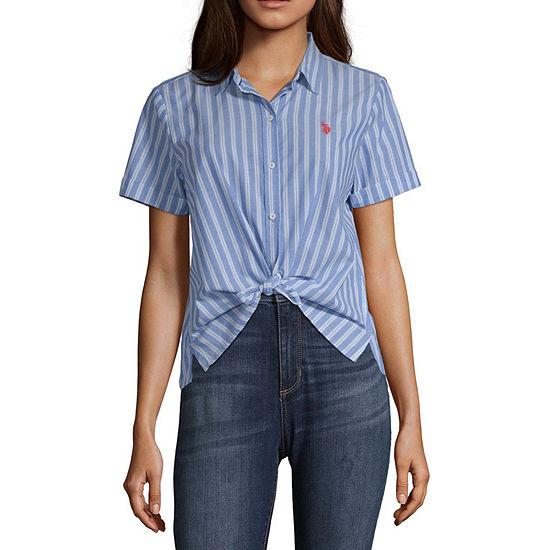Us Polo Assn.-Womens Short Sleeve T-Shirt Juniors
