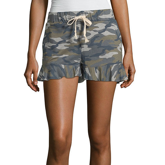 Us Polo Assn. Womens Pull-On Short-Juniors
