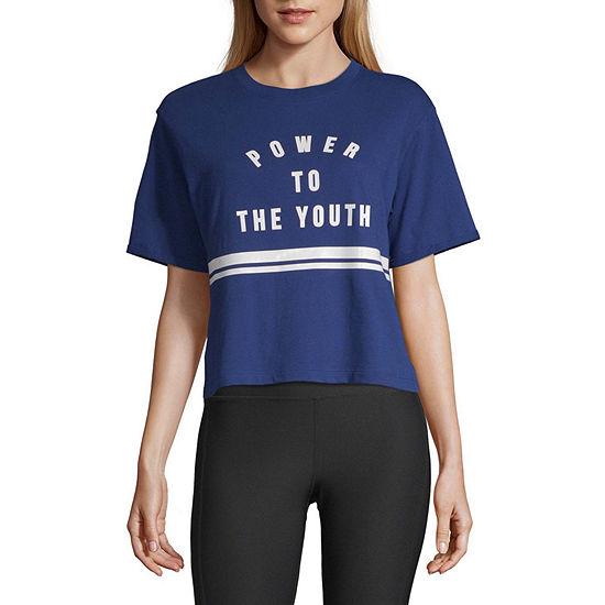 Flirtitude Juniors- Crew Neck Short Sleeve T-shirt