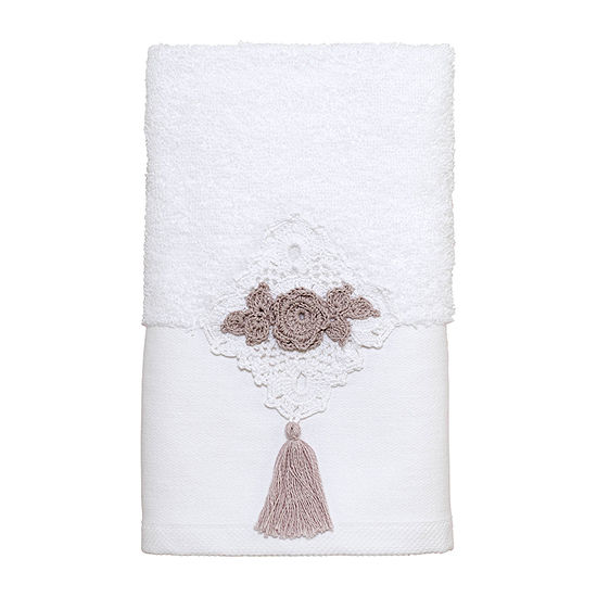 Avanti Diamond Lace Bordered Crochet Bath Towel