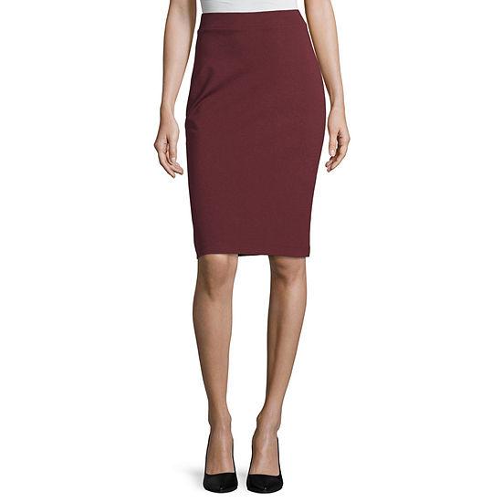 Liz Claiborne Studio Womens Pencil Skirt
