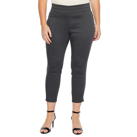 Alyx Womens Mid Rise Tapered Pull-On Pants, 1x , Gray
