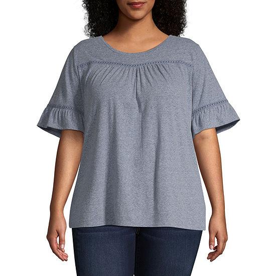 St. John's Bay Short Sleeve Femme Tee - Plus