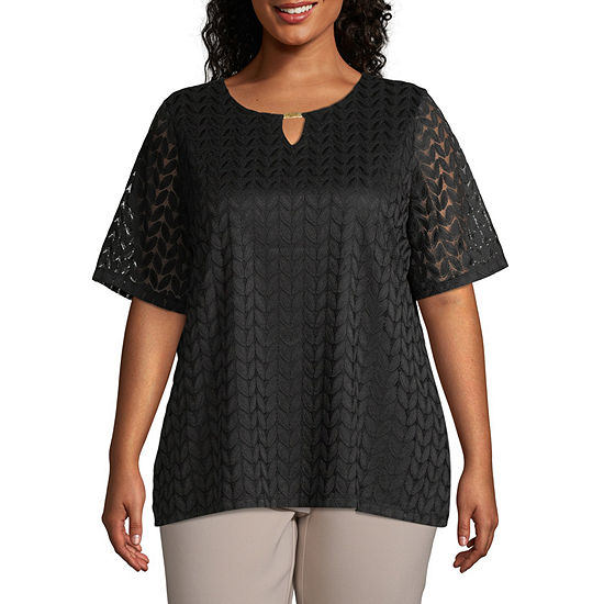 East 5th SS Lace Tee-Plus