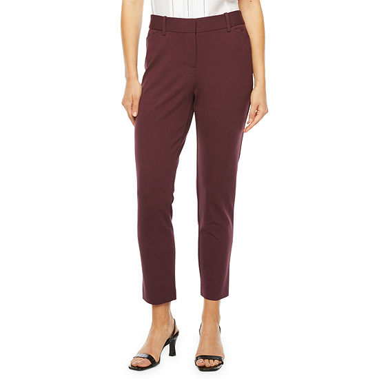 Liz Claiborne-Tall Womens Straight Fit Ankle Pant