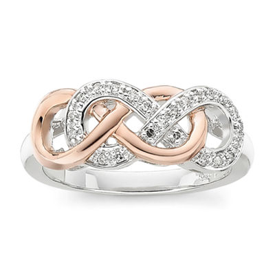 Infinity Promise 1/10 CT. T.W. Diamond Two-Tone Infinity Ring