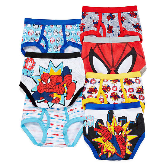 Toddler Boys 7 Pack Spiderman Briefs