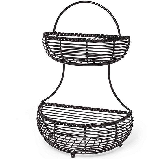 Gourmet Basics by Mikasa® 2-Tier Flat-Back Basket
